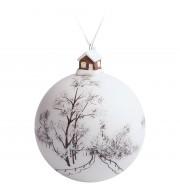 Елочный шар с фигуркой «Заснеженный лес», 10 см