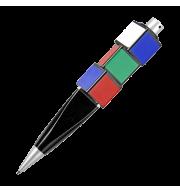 Ручка шариковая с вращающимися кубиками